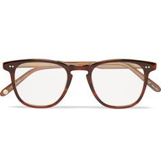 With their wide square shape and retro tortoiseshell coloration, these Garrett Leight California glasses have a certain intellectual appeal. Fitted with clear acetate lenses, this pair can be used as a stylish accessory or updated with prescription lenses as per your requirements.