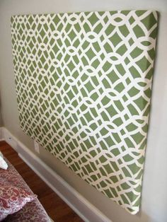 DIY Upholstered Headboard...on the wall??