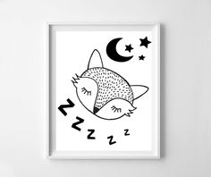 Fox, baby fox, cute fox, black fox, fox print, fox printable,  black nursery, nursery art, fox nursery, digital file, Scandinavian design Fox Nursery, Nursery Art, Printable Art, Printables, Systems Art, Fox Print, Cute Fox, Scandinavian Design, Wall Art Prints