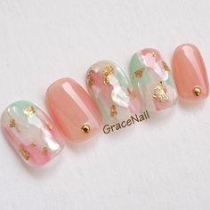Nail Shapes - My Cool Nail Designs Cute Nail Art, Cute Nails, Pretty Nails, Nail Art Designs Videos, Gel Nail Designs, Korea Nail Art, Asian Nails, Acrylic Nail Shapes, Acrylic Nails