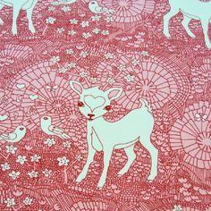 Stretchjersey Deer Pink