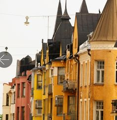 Art Nouveau architecture from a street in Finland