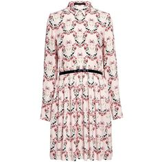 Mother Of Pearl - Hurley Floral Pleated Dress (£140) ❤ liked on Polyvore featuring dresses, flower print dress, floral dresses, floral pattern dress, pleated shirt dress and floral pleated dress