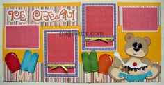 Ice Cream Scrapbook Layout Page Kit. http://www.page-kits.com/item_19/Ice-Cream-Page-Kit.htm