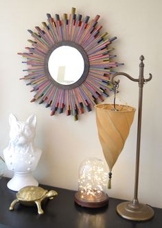 How to Glue Wood to Wood - Wooden Shim Starburst Mirror Tutorial | iLoveToCreate