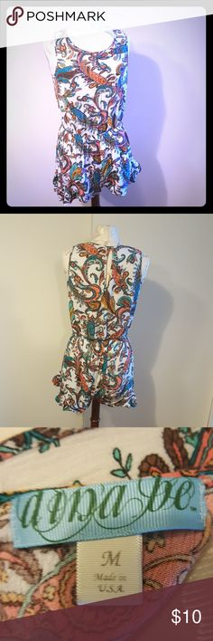 Dina Be paisley romper Sleeveless colorful paisley romper. Great condition! dina be Other