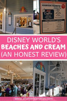 Check out these wonderful Beaches and Cream photos, including a review of Disney World's Beaches and Cream at the Beach Club and the best meals at Beaches and Cream. This Beaches and Cream restaurant review will shoot it straight to the top of your Disney bucket list. Best Disney Restaurants, Disney Resorts, Disney World Vacation, Disney Vacations, Disney Trips, Disney Travel, Florida Travel, Travel Usa, Travel Tips