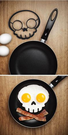 funny skull shaped egg mold
