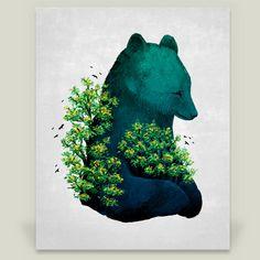 Fun Indie Art from BoomBoomPrints.com! http://www.boomboomprints.com/Product/filgouvea/Natures_Embrace/Art_Prints/8x10_Print/