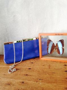 Blue handbag by Sweetlakevintage on Etsy