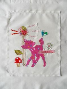 embroidered applique art by little tea wagon