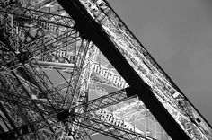 Eiffel Tower structure close up