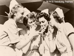 Read where a Dr told nurses in Townsville (WW2) to smoke to kill leprosy germs in throat.Some were only 16.