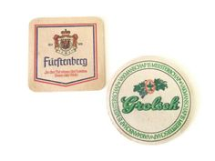 European Beer Coasters 1970s Furstenberg and Grolsch by RescuedInTime, $5.00