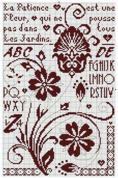 Point de croix *m@* Cross stitch monochrome