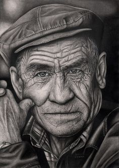 'OLD MAN' graphite drawing by Pen-Tacular-Artist.deviantart.com on @deviantART