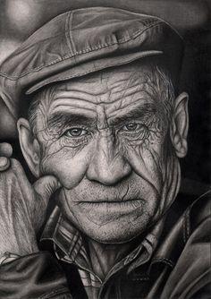 'OLD MAN' graphite drawing by Pen-Tacular-Artist.deviantart.com on @deviantART