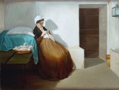 """""""Luisa Sanfelice in Carcere"""" (1874) by Gioacchino Toma"""