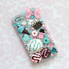 Pastel Sweets Decoden Iphone 4/4S Phone Case by HELLOxSUGAR, $30.00