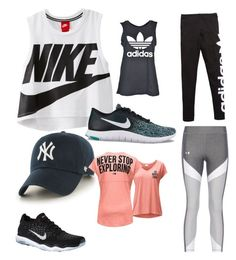 """Gym time"" by roxy-carter on Polyvore featuring NIKE, adidas Originals, adidas, '47 Brand and The North Face"