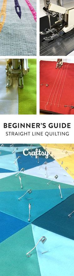 New to quilting? Straight line quilting is a great place to start! @craftsy