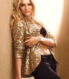 glittery gold jacket