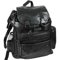 KHAKI Vintage Military Compact Backpack Daypack Outdoorsman Travel Book bag 9162