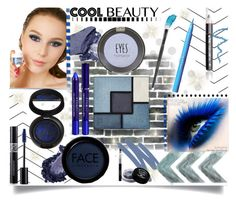 """Cool Blue Beauty"" by jeneric2015 ❤ liked on Polyvore featuring beauty, Sugarpill, Yves Saint Laurent, Laura Geller, NARS Cosmetics, Topshop, Christian Dior, FACE Stockholm, By Terry and Bourjois"