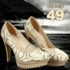 Sapato Azaleia de R$120,00 por apenas R$49,99 COMPRE ONLINE!