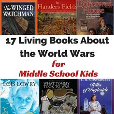 17 Living Books about the World Wars for Middle School Kids - There's no better way to reach a child's mind than through stories. These 17 living books are p - History Books For Kids, Study History, Books For Boys, Mystery Of History, Childrens Books, Middle School Books, Middle School History, Teaching Social Studies, Teaching History