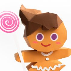 วิธีทำโมเดลกระดาษตุ้กตา คุกกี้สาวผู้ร่าเริง จากเกมส์คุกกี้รัน (LINE Cookie Run – Bright Cookie Papercraft Model)