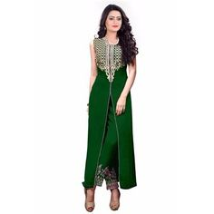 Buy Salesway Green Georgette Dress Material by salesway, on Paytm, Price: Rs.1149?utm_medium=pintrest