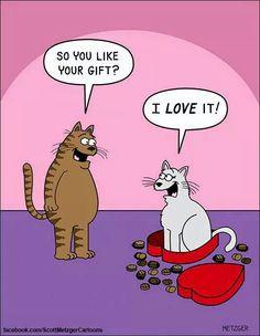 Scott Metzger Cartoons - kitty cat humor joke funny