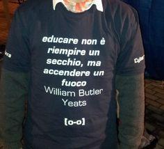T-shirt WeBot #webot #education William Butler Yeats, Education, Feelings, Sweatshirts, T Shirt, Tee, Trainers, Teaching, Onderwijs