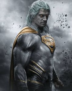 Insanity is a state of mind. — Henry Cavill: Geralt meets Superman by Bosslogic. Wallpaper Do Superman, Superman Artwork, Arte Do Superman, Batman Vs Superman, Arte Dc Comics, Superman Pictures, Witcher Wallpaper, Superman Family, Comic Games