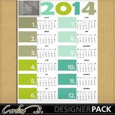 Digital Scrapbooking Kits   2014 Colorful 11x8 Calendar 1-(carolnb)   Birthdays, Calendars, Celebrations, Craftable - Printables, Everyday, Holidays - New Years   MyMemories
