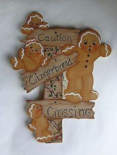 My Gingerbread Cottage Gingerbread Man Decorations, Gingerbread Christmas Decor, Christmas Yard Art, Gingerbread Ornaments, Christmas Wood, Outdoor Christmas Decorations, Christmas Signs, Christmas Projects, Holiday Crafts
