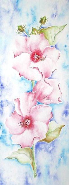 Floral watercolor by VoyageVisuel
