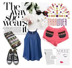 """""""Tribalover"""" by armsdani ❤ liked on Polyvore featuring Converse, WALL and tribalover"""