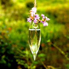 Manley festoon transparent hanging glass vase rustic hydroponic plants bottle coins grass terrarium hanging glass terrarium(China (Mainland))
