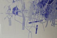 Ballpoint Pen on Paper < detail >