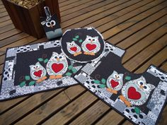 Owl Bedrooms, Mug Rugs, Christmas Stockings, Applique, Patches, Quilts, Holiday Decor, Rose, Home Decor
