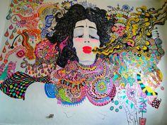 Mural Shangri-la.  Cajamarca.