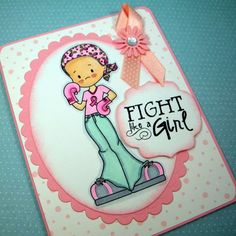 Hope Fights Card (Whimsie Doodles Stamp). Etsy, 4.00, 2.25 ship.