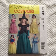 McCalls Pattern MP245 Girls Costume Size 7-8-10-12-14 #McCall