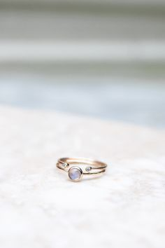 Moonstone & Diamond Ring Stack #fairtradegold