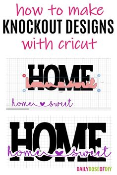 How To Make Knockout Designs in Cricut Design Space - Daily Dose of DIY In this tutorial, I'm going to show you how to makea knockout design in Cricut design space. There are two ways to do knockout designs. We can knocout text or knockout an image. Cricut Air 2, Cricut Help, Cricut Vinyl, Cricut Stencils, Inkscape Tutorials, Cricut Tutorials, Circuit Projects, Vinyl Projects, Circuit Crafts