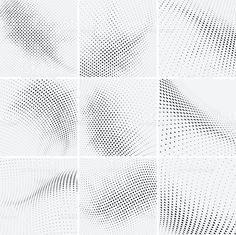 set of halftone background royalty-free stock vector art