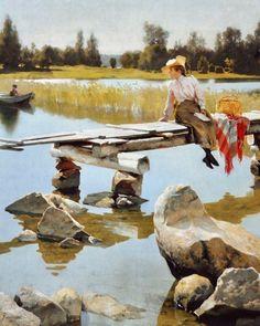 Turun taidemuseo ja @cafevictor_ avautuvat jälleen yleisölle tiistaina 7.7. klo 11. Tiedotamme muista avaamiseen liittyvistä järjestelyistä kesäkuun aikana. Odotamme jälleennäkemistä jo innolla mutta nautitaan sitä ennen alkukesän kuvankauniista maisemista, auringosta ja lämmöstä! 🌸 Gunnar Berndtson: Kesä, 1893. Turun taidemuseo. Oil Painting Reproductions, Painting Process, Figurative Art, Art Blog, Art Museum, Oil On Canvas, 19th Century, Summertime, Hand Painted