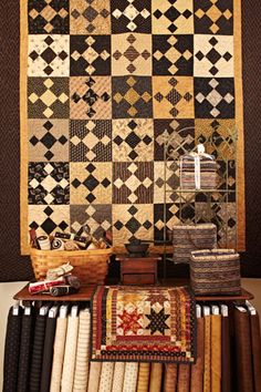 Pieceful Gathering Quilt Shop - from the Fall 2012 Quilt Shop Sampler.  Pattern by me!  Czech Stew